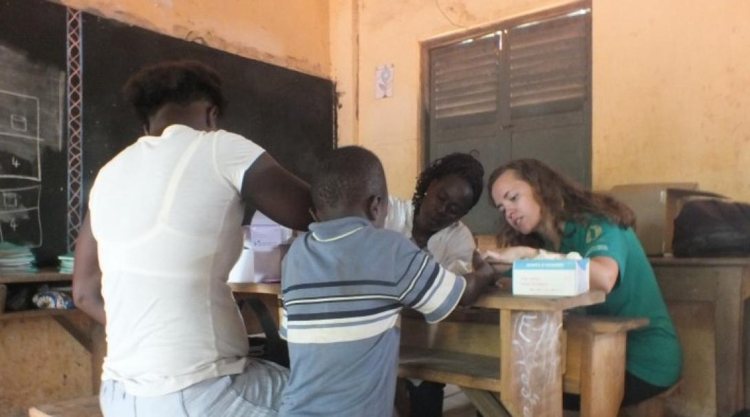 A disease prevention campaign in Togo